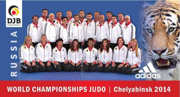 Das deutsche Team für die Judo-Weltmeisterschaften 2014 in Tscheljabinsk